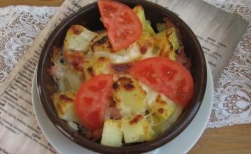 Запечени картофи с бекон